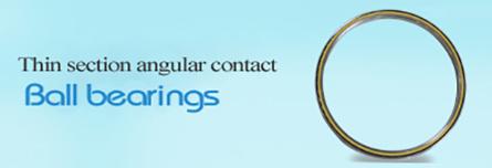 Thin section angular contact Ball bearings